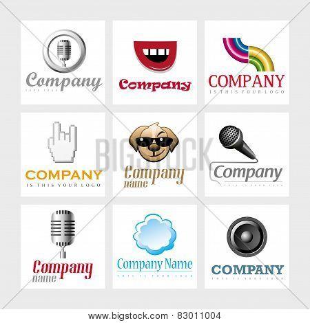 Vector logo design elements