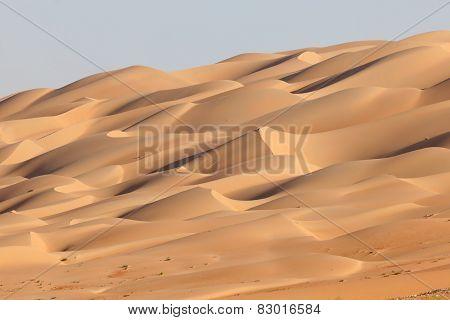 Sand Dunes At Empty Quarter Desert
