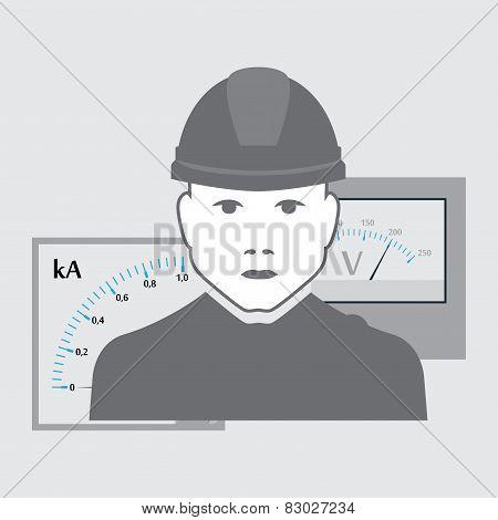 vector electrician worker