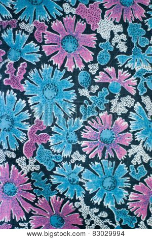 old woolen textile, colored fabric, pattern and treds
