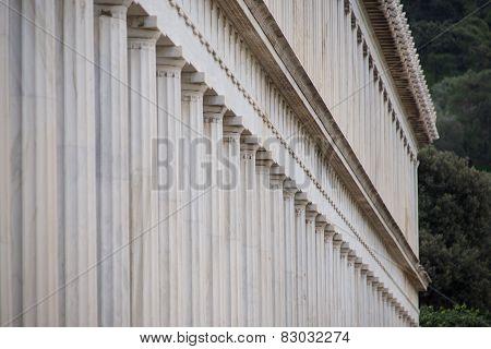 Exterior Of Marble Stoa Of Attalos Colonnade