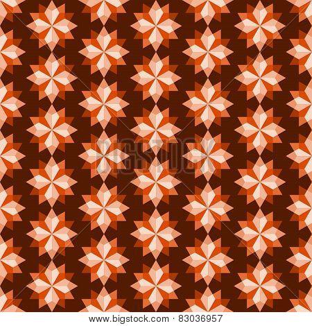 Orange Abstract Rhomboid Or Diamond Seamless Pattern