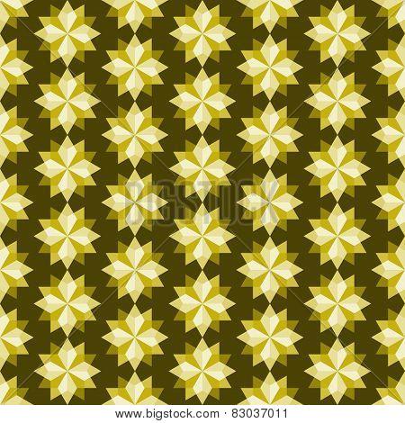 Yellow Abstract Rhomboid Or Diamond Seamless Pattern