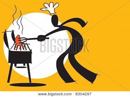 shadow man cooking