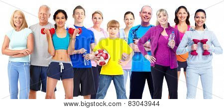 Group of fitness people. Weight loss and healthy lifestyle.