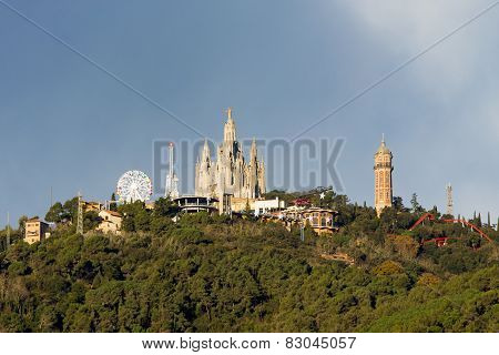 Mount Tibidabo with the church