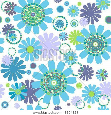 White seamless floral pattern