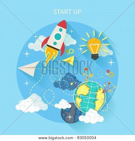Research start up rocket