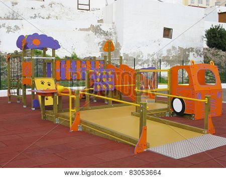 A colorful childrens playground