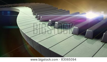 Moody Curvy Piano Keys