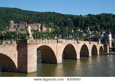 Old Bridge Over The River Main