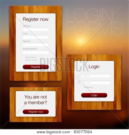 Login And Register Web Forms