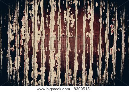 Rusty Scratch Wooden Texture In Horrifying Grunge Concept Background