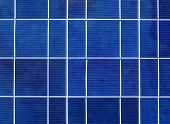 Solar power generation technology, green alternative energy and environment protection ecology business concept background - solar battery panel close up poster