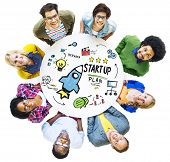 Start Up Business Launch Success People Group Concept poster