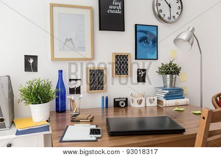 Pictures Above Desk