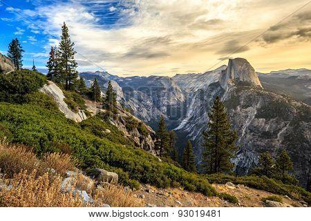Half Dome Mountain In Yosemite National Park