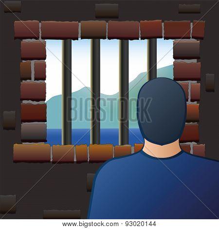 Confinement Prisoner Detainee Man Jail
