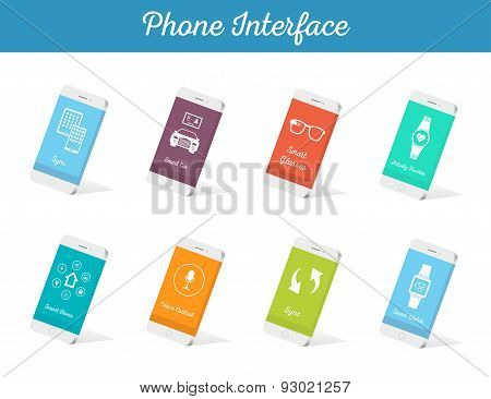 Set Of Vector Models Interface Smartphone