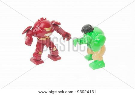 Hulk Vs Iron Man Custom Lego Minifigures