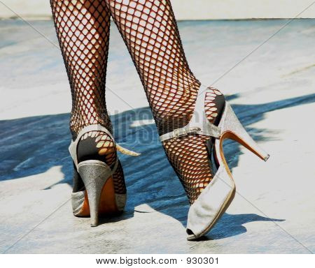 Tango Shoes And Pose