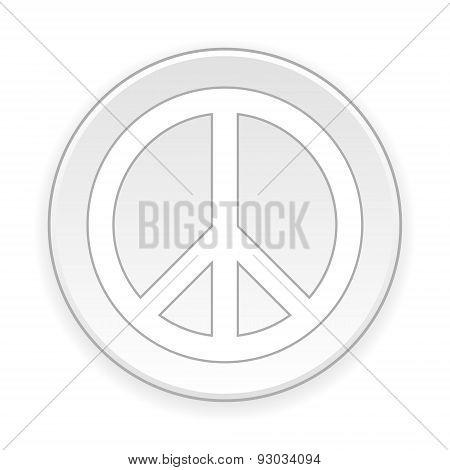 Peace Symbol Button.