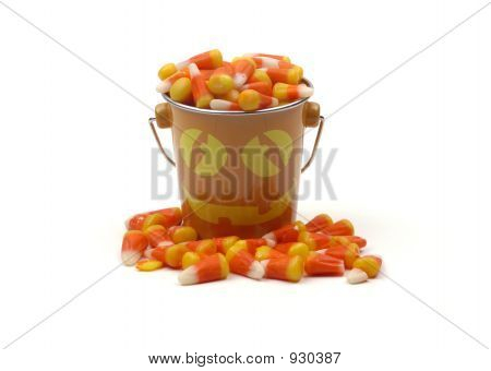 Halloween - Eimer mit Candy Corn