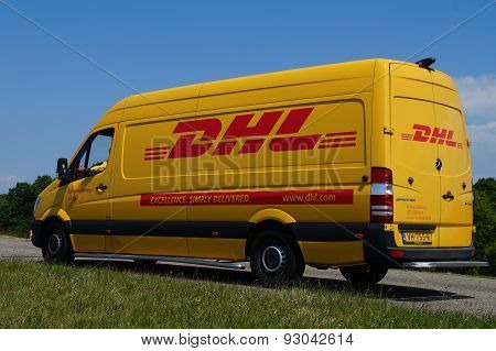 DHL delivery delivery van