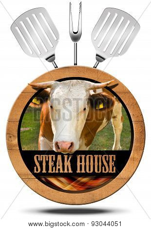 Steak House - Wooden Symbol