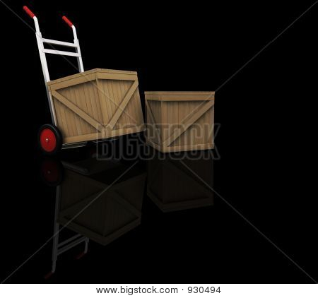 Hand Truck With Crates