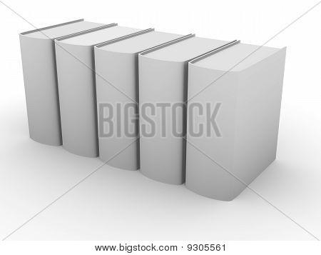line of books