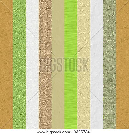 Vintage Embossed Paper Textures Stripes Collage