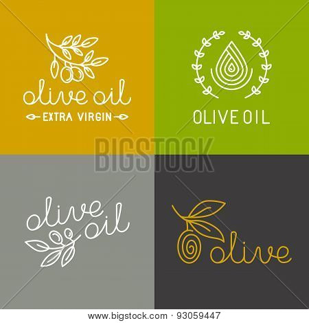 Vector Olive Oil Icons And Logos