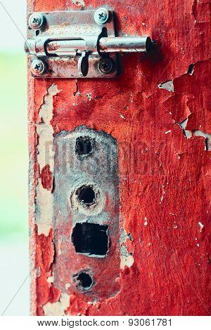 Old Nice Heck On Old Shabby Door