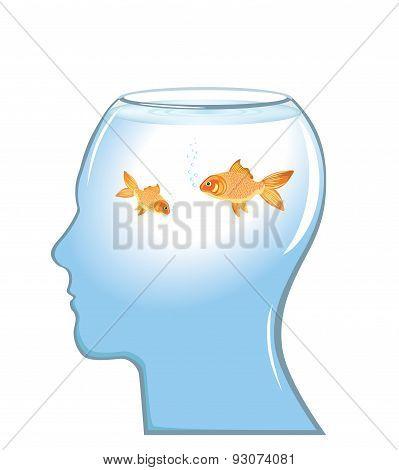 Memory loss concept vector