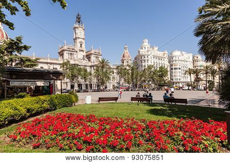 Square In Valencia, Spain