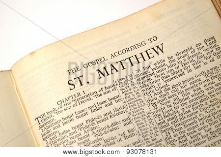 Gospel Of Matthew, In King James Version Bible