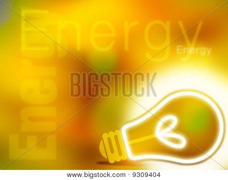 Abstract yellow energy illustration