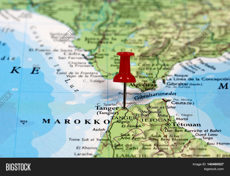 Map Pin Point Tanger Marokko Image Photo Bigstock