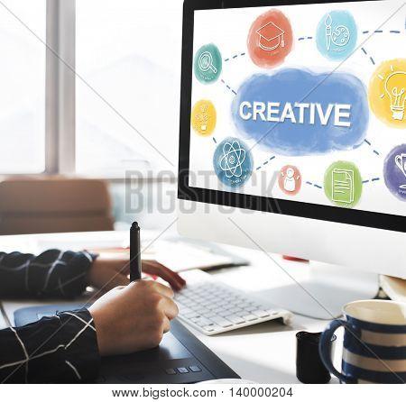 Creative Think Big Brainstorming Graphic Concept