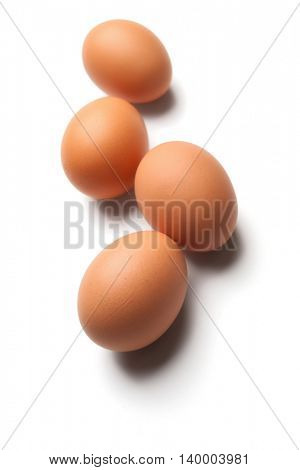 Eggs isolated on white background -Clipping Path