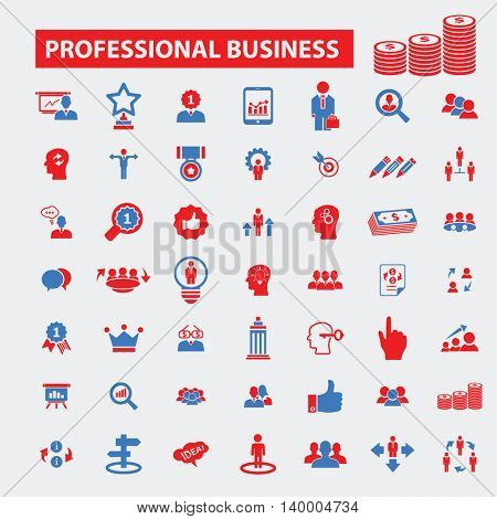 professional business icons