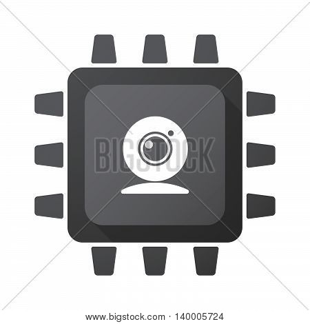 Isolated Cpu Chip Icon With A Web Cam