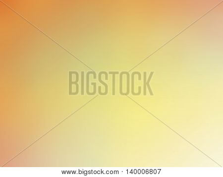 Abstract gradient orange yellow colored blurred background.