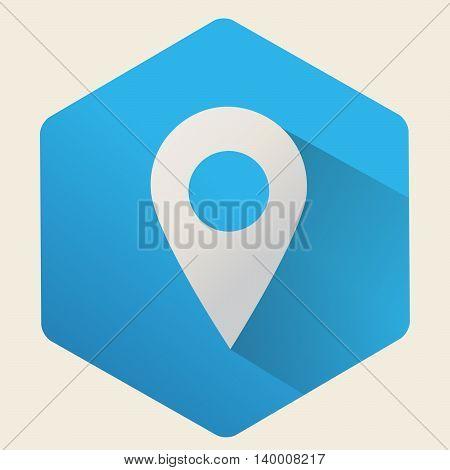 flat  icon  gps location, vector isolated symbol.
