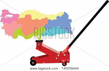 hydraulic jack lifts Turkey lifted hydraulically raise