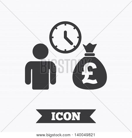 Bank loans sign icon. Get money fast symbol. Borrow money. Graphic design element. Flat bank loans symbol on white background. Vector