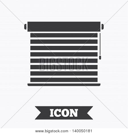 Louvers sign icon. Window blinds or jalousie symbol. Graphic design element. Flat louvers symbol on white background. Vector