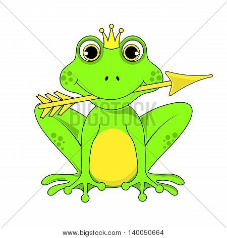 Frog Princess Crown With Arrow On White Background In Vector Eps 10
