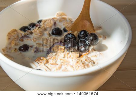 Healthy Breakfast With Aronia